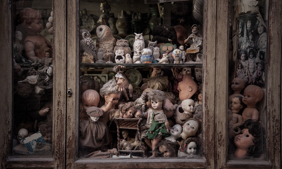 Rome: the Doll Hospital where antique dolls are given new life.